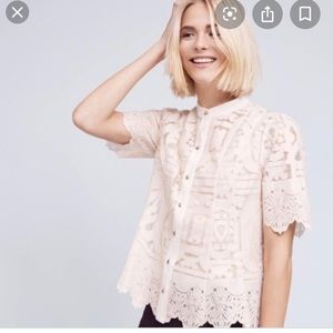 Anthropologie Floreat Sagesse Lace Blouse NWT $128